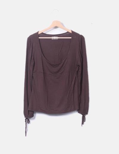 Camiseta manga larga marrón