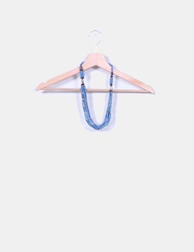 Collar combinado semillas azul NoName