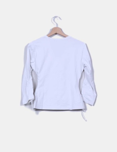 Blusa blanca elastica