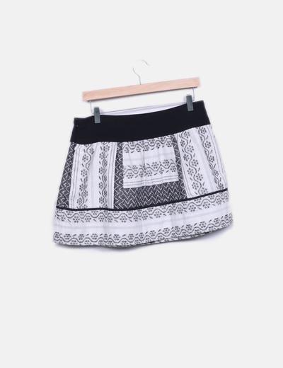 Minifalda de punto estampada