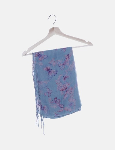 Foulard azul mariposa