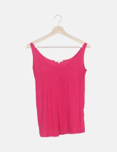 Camiseta rosa flúor tirantes