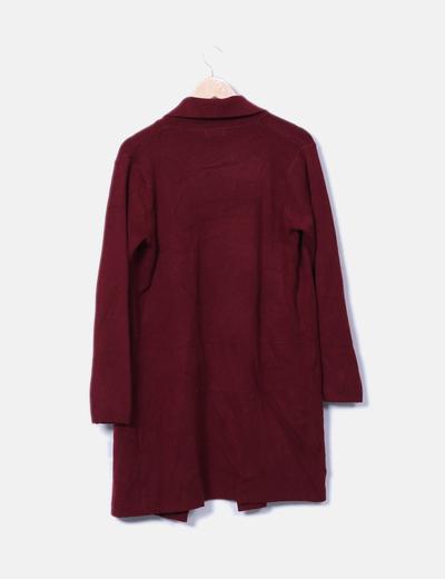 Cardigan tricot burdeos