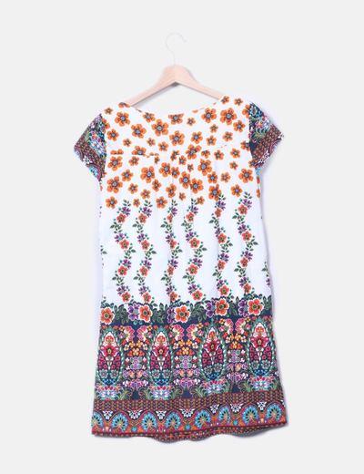 Vestido multicolor floral