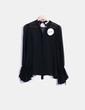 Blusa negra mangas campana Line +`Dot