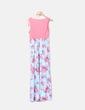 Vestido azul y rosa floral maternity PatPat