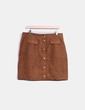 Falda midi marrón de antelina Yessica
