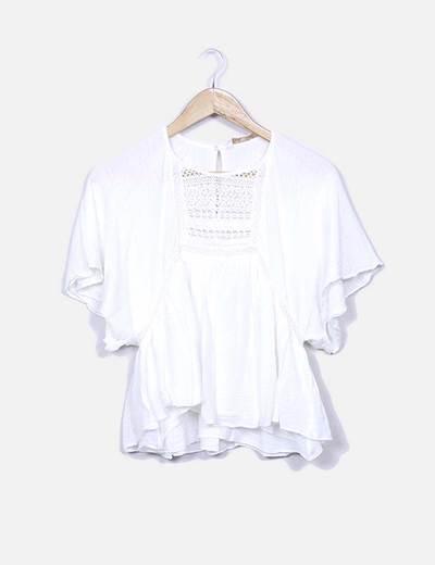 Líquido combinado de blusa combinada Zara