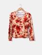 Camiseta camel print floral Punt Roma