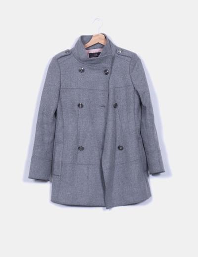 Abrigo gris doble botonadura  Carolina Herrera