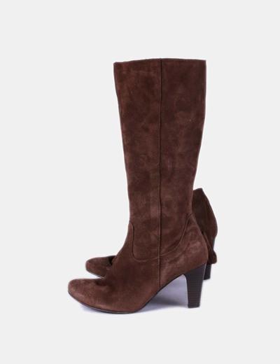 Chaussure marron bout arrondi à talon de NoName