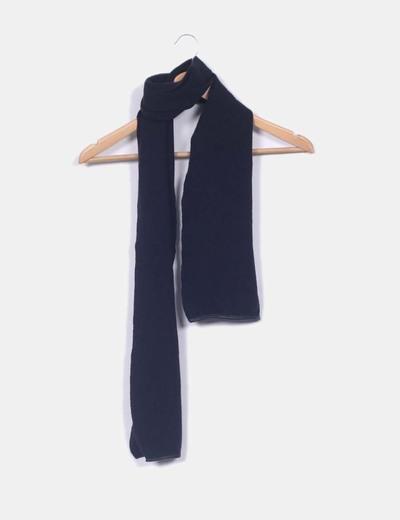 Bufanda negra de lana