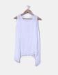 Blusa blanca transparente asimétrica NoName