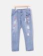 Jeans denim parches Fei Yan