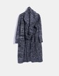 Cárdigan lana negra jaspeada con cuello Choies