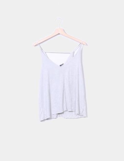 Camiseta antelina gris