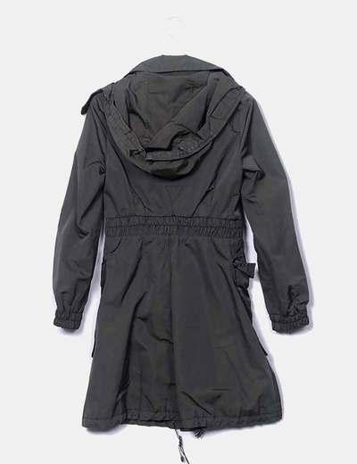 Zara Long green khaki parka (discount 37%) - Micolet effcd5332695