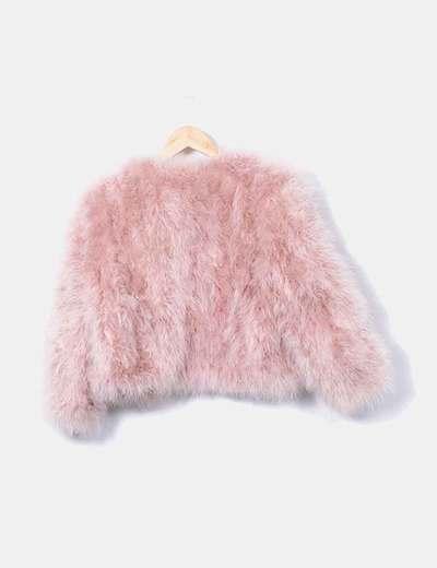 diseño atemporal más nuevo mejor calificado 100% de alta calidad Chaquetón de pluma de pavo rosa