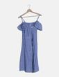 Vestido rayas azules abotonado Zeta Otto