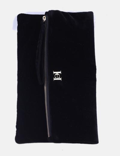 Bolso de mano terciopelo negro