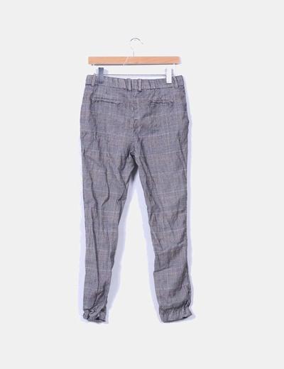 Pantalon chino de cuadros