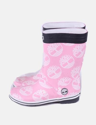 Botas de agua rosa estampado