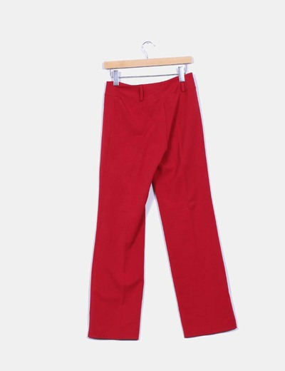 Pantalon recto rojo