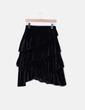 Falda midi negra volantes velvet Suiteblanco