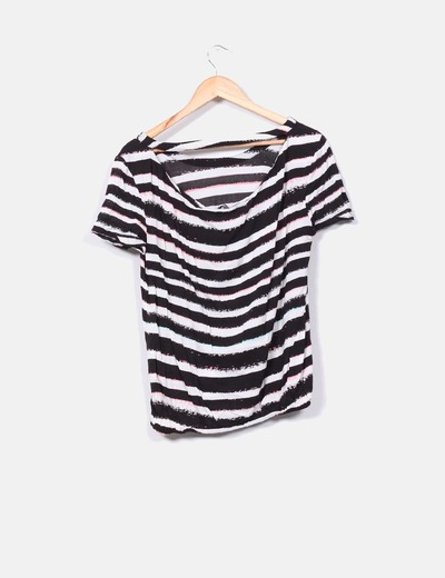 Camiseta de rayas manga corta