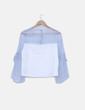 Blusa con mangas transparentes Made in china