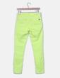 Pantalón denim amarillo pitillo Zara