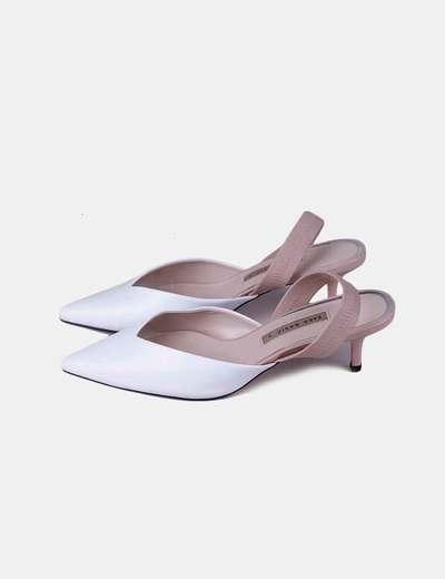 Blancos Blancos Heels Zapatos Zapatos Destalonados Heels Destalonados Heels Zapatos dCxoBe