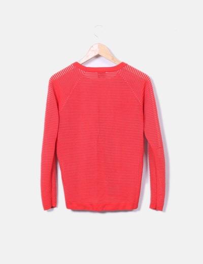 Jersey rojo de rayas