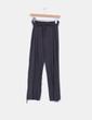 Pantalón ancho, color gris detalle fajita tripa Domyos