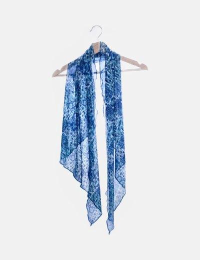 Foulard print azul