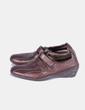Zapato marrón con velcro y cuña 24 horas El Corte Inglés