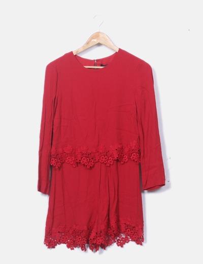 Mono crochet rojo
