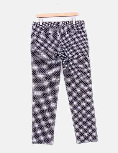 Pantalon azul marino con topos