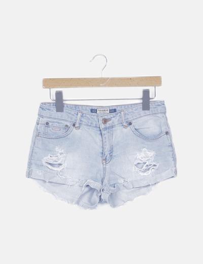 Pantalón short azul ripped