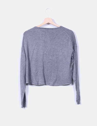 Top tricot gris