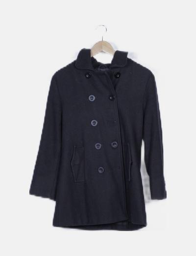 Abrigo negro doble botón