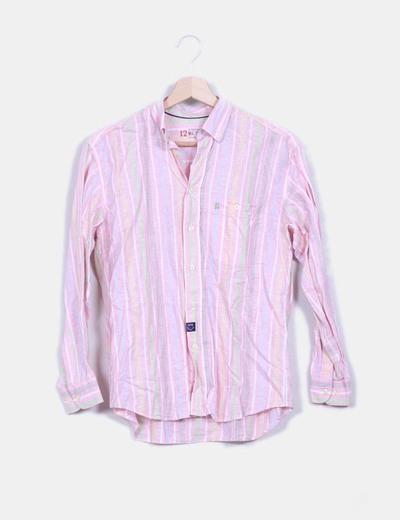 Camisa de rayas multicolor NoName