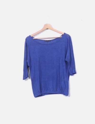 Suéter tricot azul