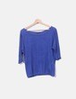 Suéter tricot azul Bershka