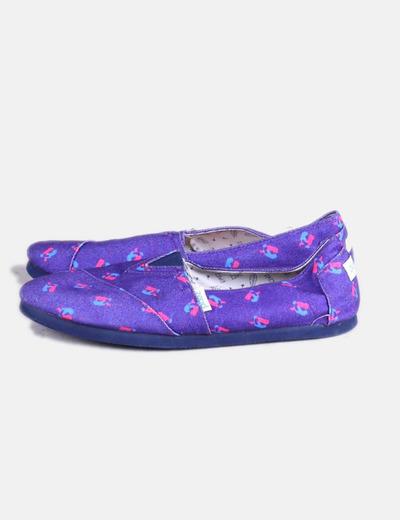 Imprimé espadrille violette Paez