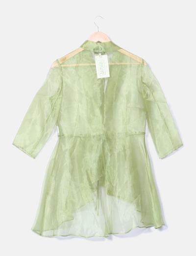 Cardigan verde de tul