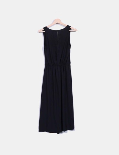Vestido negro doble abertura