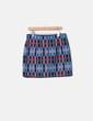 Mini falda texturizada ribetes polipiel Zara
