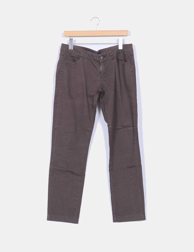 Pantalon marron chocolate recto