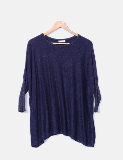 Jersey tricot azul con brillos Belcci